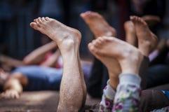 Πόδια που αυξάνονται επάνω Στοκ Φωτογραφία