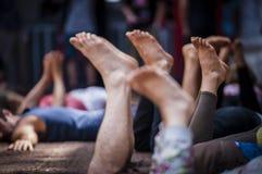Πόδια που αυξάνονται επάνω Στοκ Εικόνες