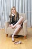 πόδια που κουράζονται Στοκ Εικόνα