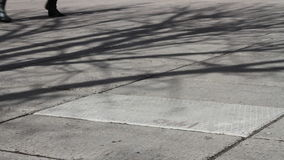 Πόδια που περπατούν στο πεζοδρόμιο απόθεμα βίντεο