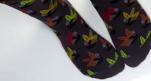 Πόδια που φορούν τις κάλτσες της Τουρκίας Στοκ φωτογραφίες με δικαίωμα ελεύθερης χρήσης