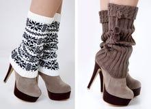 Πόδια που φορούν τις περικνημίδες Στοκ φωτογραφία με δικαίωμα ελεύθερης χρήσης