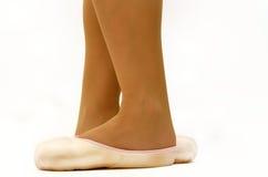 Πόδια στα επίπεδα μπαλέτου Στοκ φωτογραφίες με δικαίωμα ελεύθερης χρήσης