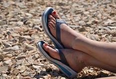 Πόδια στην παραλία Στοκ φωτογραφίες με δικαίωμα ελεύθερης χρήσης
