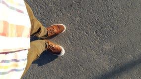 Πόδια στο πεζοδρόμιο Στοκ Φωτογραφία