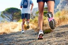 Πόδια τρεξίματος υπαίθριου Στοκ Εικόνες