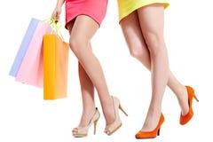 Πόδια των αγοραστών στοκ εικόνα