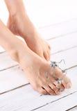 Πόδια υγιεινής, πλαστικό καρφιών Στοκ εικόνες με δικαίωμα ελεύθερης χρήσης