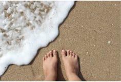 Πόδι στην παραλία Στοκ Εικόνες