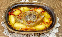 Πόδι χοιρινού κρέατος που ψήνεται Στοκ φωτογραφία με δικαίωμα ελεύθερης χρήσης