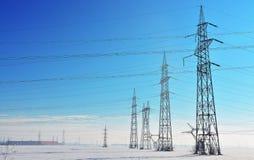 Πόλοι ηλεκτρικής ενέργειας Στοκ φωτογραφίες με δικαίωμα ελεύθερης χρήσης