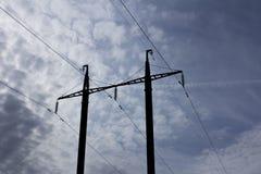 Πόλος ηλεκτρικής δύναμης Στοκ εικόνες με δικαίωμα ελεύθερης χρήσης