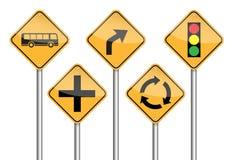 Πόλος οδικών σημαδιών διανυσματική απεικόνιση