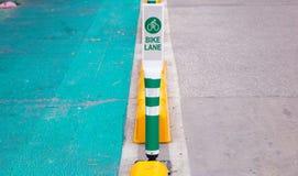 Πόλος παρόδων ποδηλάτων στη Μπανγκόκ στην Ταϊλάνδη Στοκ εικόνα με δικαίωμα ελεύθερης χρήσης