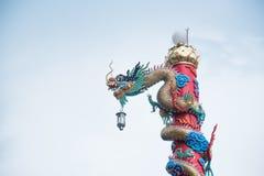 Πόλος δράκων Chiness Στοκ Φωτογραφίες