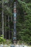 Πόλος τοτέμ Tlingit στοκ εικόνα