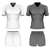 Πόλο-πουκάμισο κοντός-μανικιών στη διανυσματική απεικόνιση απεικόνιση αποθεμάτων