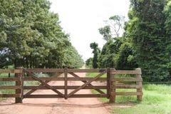 πύλη αγροτική Στοκ Εικόνα