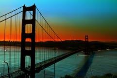 πύλη γεφυρών χρυσή στοκ φωτογραφία