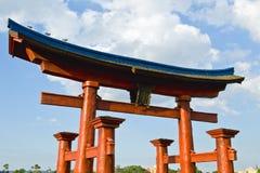 πύλη ιαπωνικά αψίδων Στοκ Φωτογραφίες