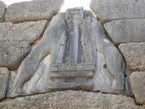 Πύλη λιονταριών, Mycenae Στοκ Εικόνες