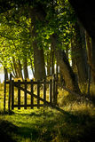 πύλη ξύλινη Στοκ εικόνα με δικαίωμα ελεύθερης χρήσης
