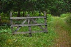 πύλη ξύλινη Στοκ Εικόνες