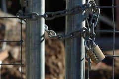 πύλη που κλειδώνεται Στοκ Φωτογραφία