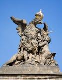 πύλη Πράγα αετών κάστρων Στοκ εικόνα με δικαίωμα ελεύθερης χρήσης