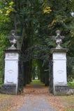 Πύλη στην αλέα Linden Στοκ Εικόνες