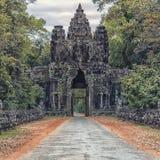 Πύλη στο Angkor Thom σε Angkor σύνθετο Στοκ εικόνα με δικαίωμα ελεύθερης χρήσης