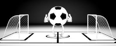 Πύλη σφαιρών ποδοσφαίρου στοκ εικόνα
