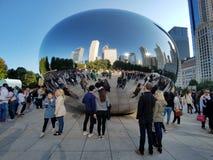 Πύλη σύννεφων, Σικάγο στοκ φωτογραφίες