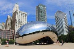 Πύλη σύννεφων φασολιών του Σικάγου στοκ φωτογραφία