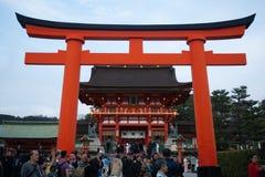 Πύλη της Tori στη λάρνακα Fushimi Inari Taisha στο Κιότο, Ιαπωνία στοκ φωτογραφία με δικαίωμα ελεύθερης χρήσης