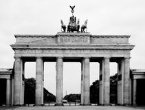 πύλη του Βερολίνου Βραδ& Στοκ φωτογραφία με δικαίωμα ελεύθερης χρήσης
