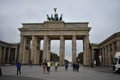 Πύλη του Βραδεμβούργου στο Βερολίνο στοκ φωτογραφία με δικαίωμα ελεύθερης χρήσης