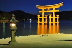 Πύλη δακτυλίων Miyajima Στοκ Εικόνες