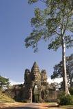 πύλη angkor thom στοκ φωτογραφίες με δικαίωμα ελεύθερης χρήσης