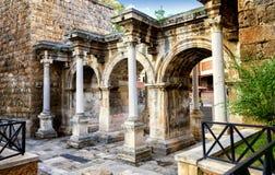Πύλη Hadrians σε Antalya, Τουρκία Στοκ Εικόνες