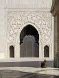 πύλη Hassan ΙΙ μουσουλμανικό τέμενος Στοκ εικόνα με δικαίωμα ελεύθερης χρήσης