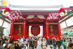 Πύλη Kaminarimon ή βροντής στο ναό Sensou ji Στοκ Φωτογραφίες