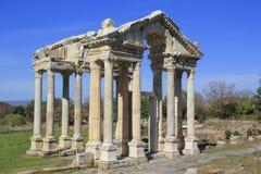Πύλη Tetrapylon που αφιερώνεται σε Aphrodite σε Aphrodisias, Τουρκία Στοκ Εικόνες