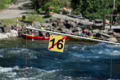 Πύλη 16 Whitewater slalom Στοκ Εικόνες