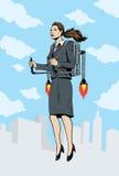 πύραυλος κοριτσιών Στοκ εικόνες με δικαίωμα ελεύθερης χρήσης