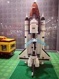 Πύραυλος Lego - εισβολή έκθεσης Lego των γιγάντων στοκ εικόνα
