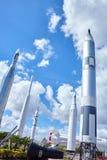 Πύραυλοι στο Διαστημικό Κέντρο Κένεντι Φλώριδα της NASA Στοκ φωτογραφία με δικαίωμα ελεύθερης χρήσης