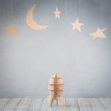 Πύραυλος και αστέρια χαρτονιού Στοκ Εικόνες
