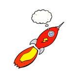 πύραυλος κινούμενων σχεδίων με τη σκεπτόμενη φυσαλίδα Στοκ φωτογραφία με δικαίωμα ελεύθερης χρήσης