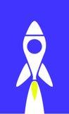 πύραυλος κινούμενων σχε& Στοκ φωτογραφία με δικαίωμα ελεύθερης χρήσης
